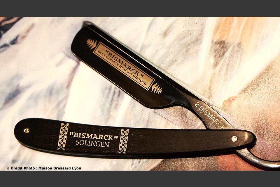 Rasoir de barbier Boker Solingen chasse en ébène