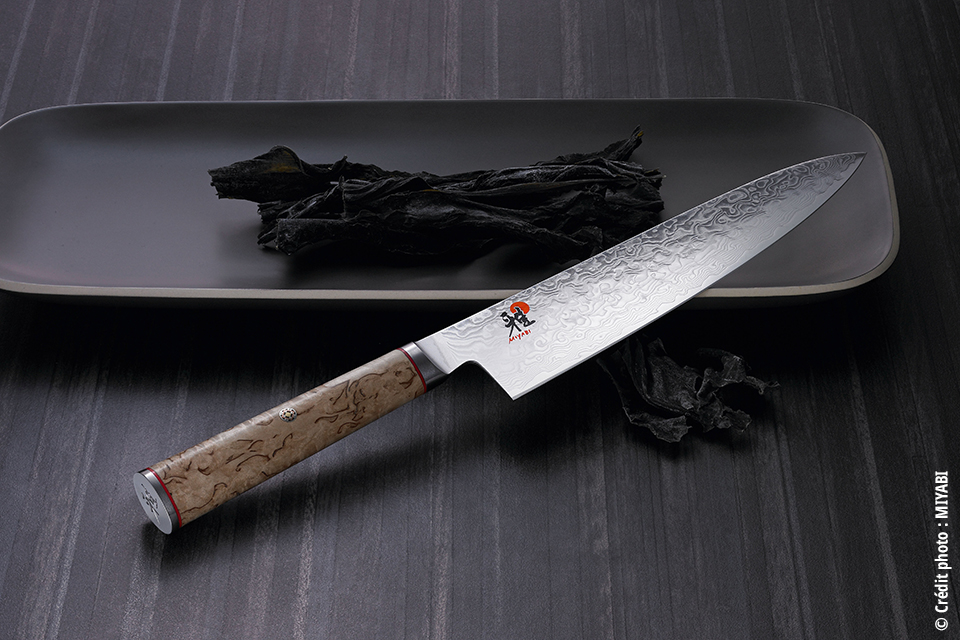 Miyabi Seki Japon – 5000 MCD – Damas 100 couches Manche bouleau. Large gamme de 250€ à 399€