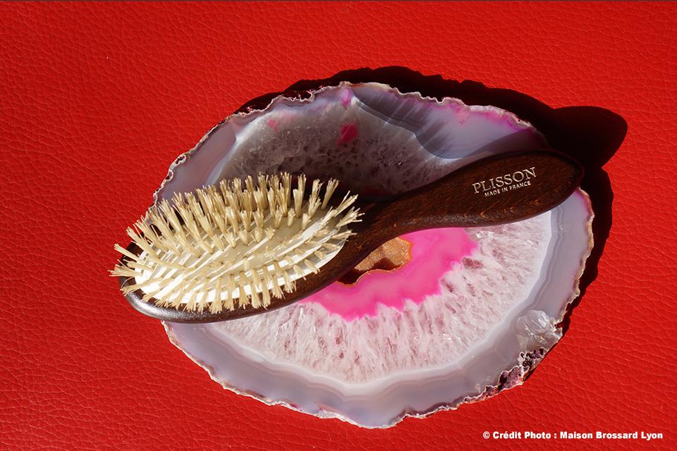 Brosse pures soies de porc. Cheveux délicats. Plisson France. 39€